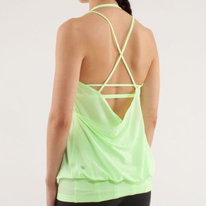 Lululemon Flow And Go Tank II neon Faded Zap sz 6